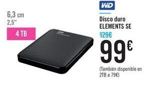 Oferta de Disco duro ELEMENTS SE WD por 99€