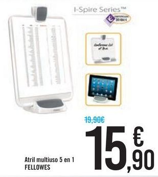 Oferta de Atril multiuso 5 en 1 FELLOWES por 15,9€