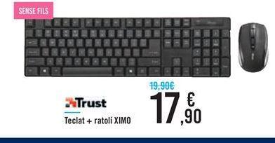 Oferta de Teclado+ratón XIMO Trust por 17,9€