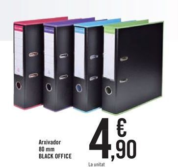 Oferta de Archivador 8mm BLACK OFFICE por 4,9€