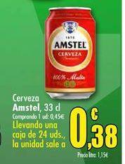 Oferta de Cerveza Amstel por 0,45€