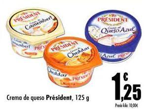 Oferta de Crema de queso Président por 1,25€