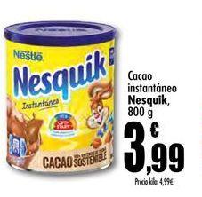 Oferta de Cacao soluble Nesquik por 3,99€