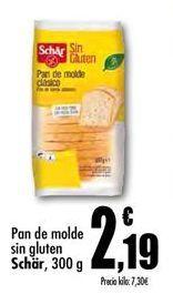 Oferta de Pan de molde sin gluten Schär por 2,19€