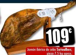 Oferta de Jamón ibérico de cebo sotoalbos por 109€