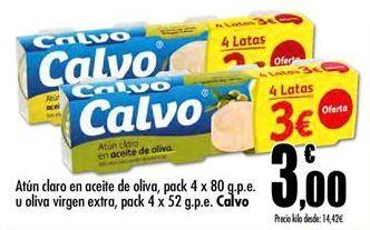 Oferta de Atún claro Calvo por 3€