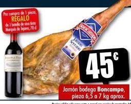 Oferta de Jamón bodega Boncampo por 45€