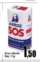 Oferta de Arroz redondo Sos por 1,5€