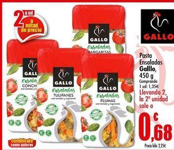 Oferta de Pasta Ensaladas Gallo por 1,35€