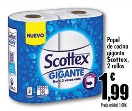 Oferta de Papel de cocina Scottex por 1,99€