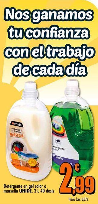 Oferta de Detergente gel Unide por 2,99€