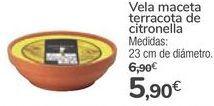Oferta de Vela maceta terracota de cintronella  por 5,9€