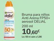 Oferta de Bruma para niños Anti Arena FP50+ aerosol DELIAL  por 10,6€