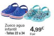 Oferta de Zueco agua infantil  por 4,99€