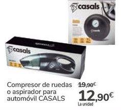 Oferta de Compresor de ruedas o aspirador para automóvil CASALS por 12,9€