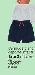 Oferta de Bermuda o short deporte infantil  por 3,99€