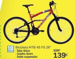 "Oferta de Bicicleta MTB 45 FS 26"" por 139€"