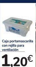 Oferta de Caja portamascarilla con rejilla para ventilación por 1,2€