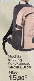 Oferta de Mochila trekking Kukuxumusu por 15,9€