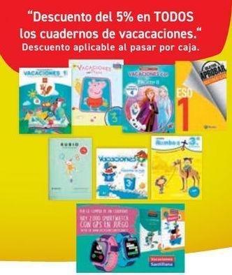 Oferta de En TODOS los cuadernos de vacaciones  por