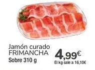 Oferta de Jamón curado FRIMANCHA por 4,99€