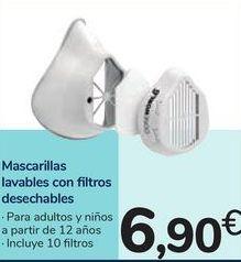 Oferta de Mascarillas lavables con filtros desechables por 6,9€