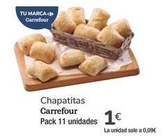 Oferta de Chapatitas Carrefour por 1€