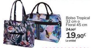 Oferta de Bolso Tropical o Floral por 19,9€