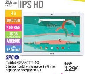 Oferta de Tablet GRAVITY 4G SPC por 129€