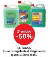 Oferta de En TODOS los anticongelantes/refrigerantes por