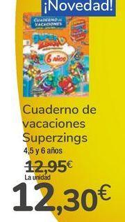 Oferta de Cuaderno de vacaciones Superzings  por 12,3€