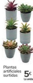 Oferta de Plantas artificiales surtidas  por 5€