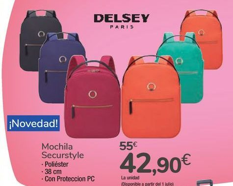 Oferta de Mochila Securstyle DELSEY por 42,9€