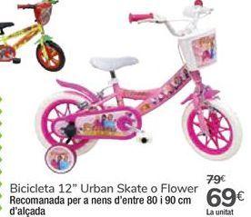 """Oferta de Bicicleta 12"""" Urban Skate o Flower por 69€"""