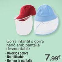 Oferta de Gorra infantil o gorro bebé con pantalla desmontable  por 7,99€