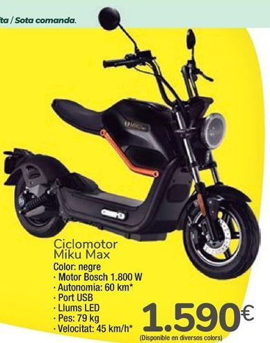 Oferta de Ciclomotor Miku Max  por 1590€