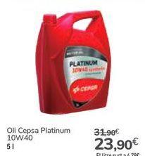 Oferta de Aceite Cepsa Platinum por 23,9€