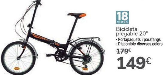 """Oferta de Bicicleta plegable 20"""" por 149€"""