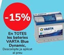 Oferta de En TODAS las baterías VARTA Blue Dynamic por