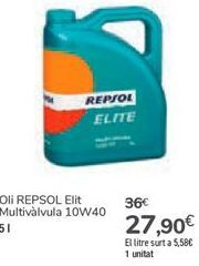 Oferta de Aceite REPSOL Élite Multiválvula por 27,9€