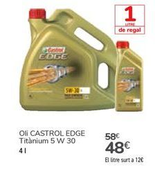 Oferta de Aceite CASTROL EDGE Titanium  por 48€