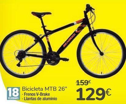 "Oferta de Bicicleta MTB 26"" por 129€"