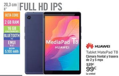 Oferta de Tablet MatePad T8 Huawei por 99€