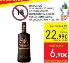 Oferta de Ron Cacique 500 por 22,99€