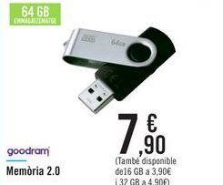Oferta de Memoria 2.0 goodram por 7,9€