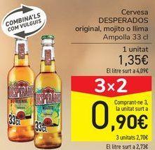 Oferta de Cerveza DESPERADOS Original, mojitos o lima  por 1,35€