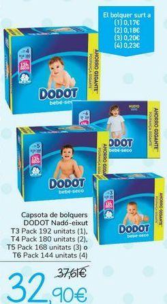 Oferta de Cajón de pañales DODOT Bebé seco  por 32,9€