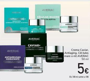 Oferta de Crema Caviar, Antiaging, Células madre o noche AVERAC  por 5€
