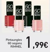 Oferta de Lacas de uñas RIMMEL  por 1,99€