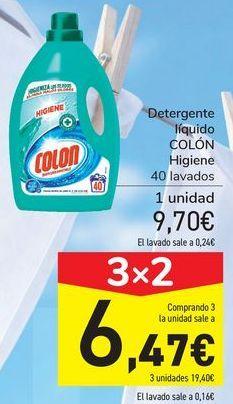 Oferta de Detergente líquido COLÓN Higiene por 9,7€